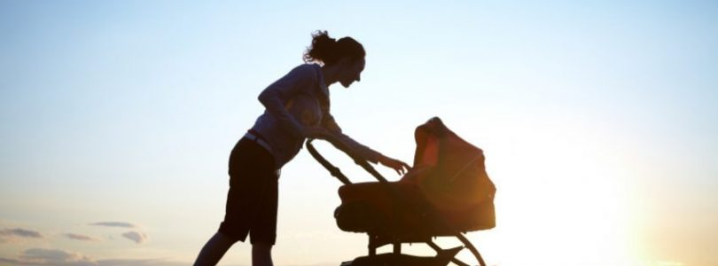 matka z wózkiem